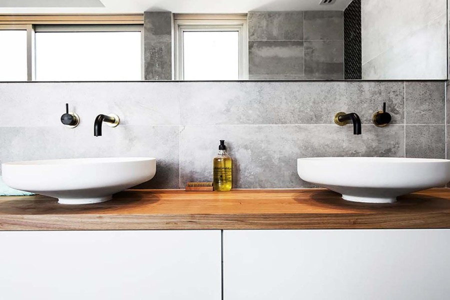 Houzz bathroom vanity - Interior Design Bathroom2 01 Dean Shay Blackbutt Vanity4 900x600 Jpg