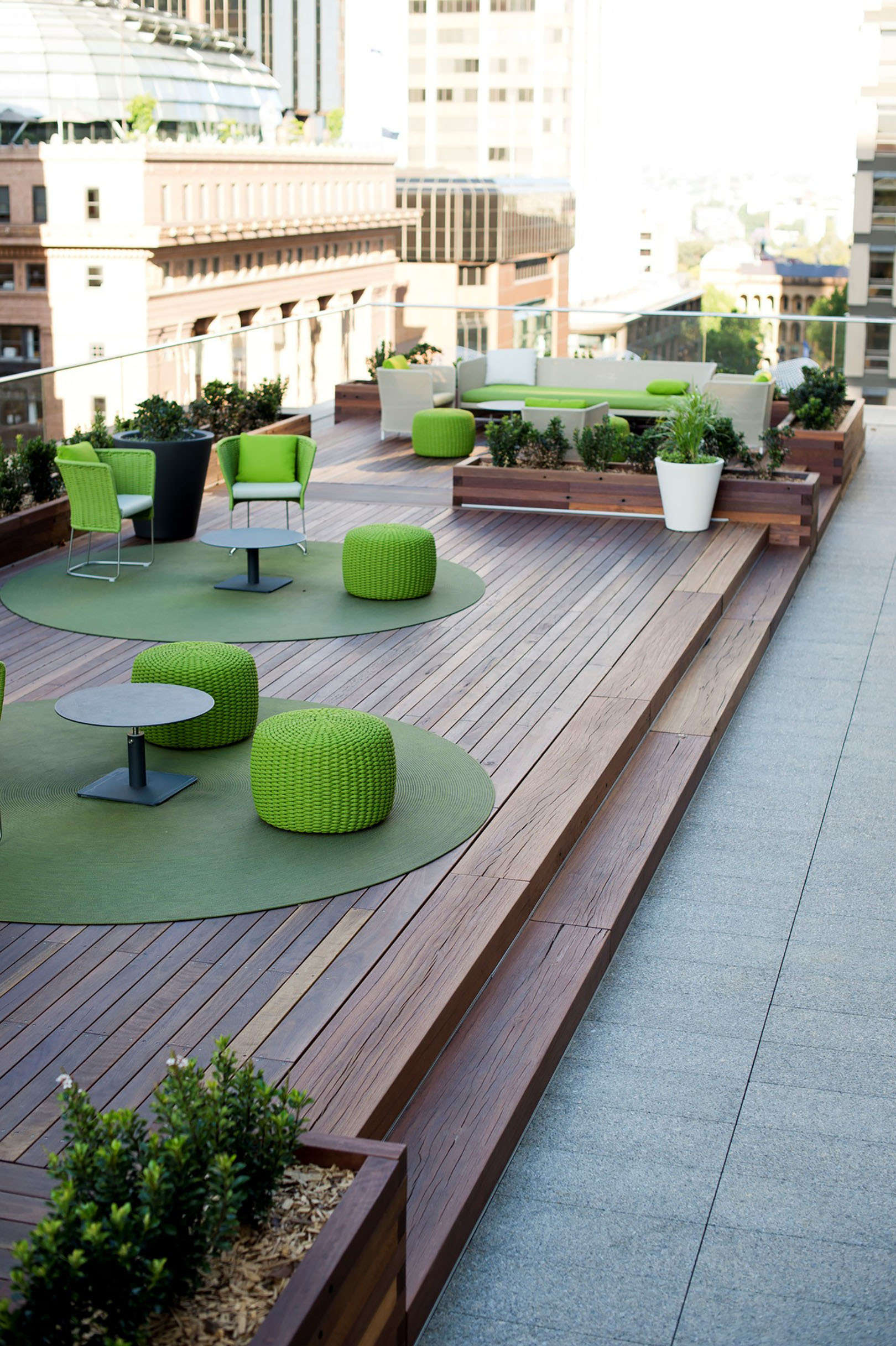 Martin Place RooftopDecking and stair treads
