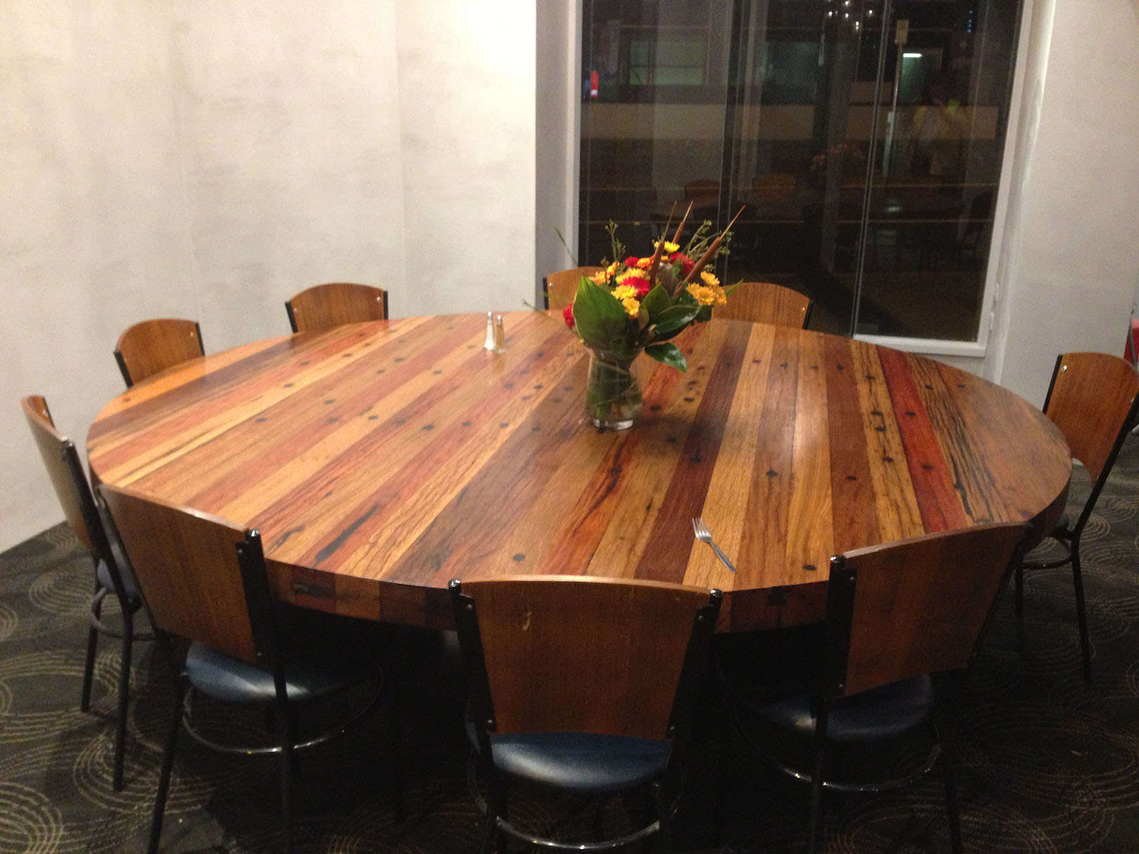 Table Top - recycled cross arms
